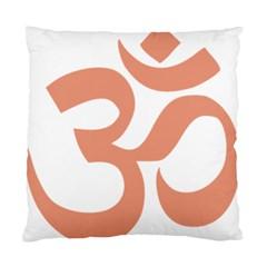 Hindu Om Symbol (salmon) Standard Cushion Case (two Sides) by abbeyz71