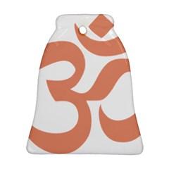 Hindu Om Symbol (salmon) Ornament (bell) by abbeyz71