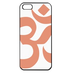 Hindu Om Symbol (salmon) Apple Iphone 5 Seamless Case (black) by abbeyz71