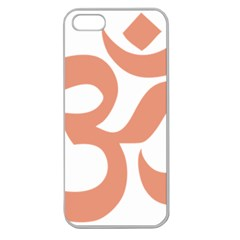 Hindu Om Symbol (salmon) Apple Seamless Iphone 5 Case (clear) by abbeyz71