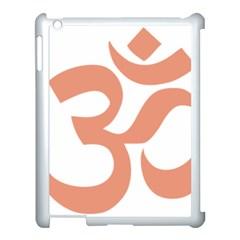 Hindu Om Symbol (salmon) Apple Ipad 3/4 Case (white) by abbeyz71