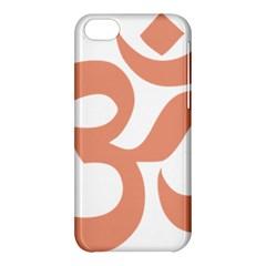 Hindu Om Symbol (salmon) Apple Iphone 5c Hardshell Case by abbeyz71