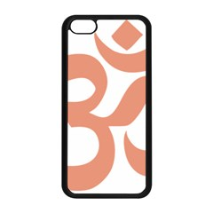 Hindu Om Symbol (salmon) Apple Iphone 5c Seamless Case (black) by abbeyz71