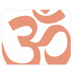Hindu Om Symbol (salmon) Double Sided Flano Blanket (medium)