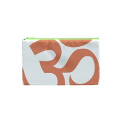 Hindu Om Symbol (salmon) Cosmetic Bag (xs) by abbeyz71
