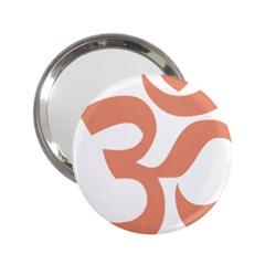 Hindu Om Symbol (salmon) 2 25  Handbag Mirrors by abbeyz71