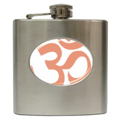 Hindu Om Symbol (salmon) Hip Flask (6 Oz) by abbeyz71