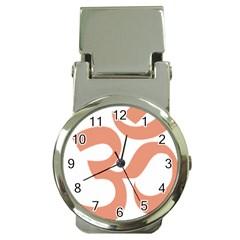 Hindu Om Symbol (salmon) Money Clip Watches by abbeyz71