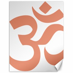 Hindu Om Symbol (salmon) Canvas 12  X 16   by abbeyz71