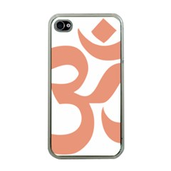 Hindu Om Symbol (salmon) Apple Iphone 4 Case (clear) by abbeyz71