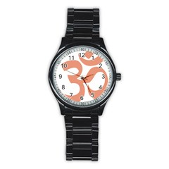 Hindu Om Symbol (salmon) Stainless Steel Round Watch by abbeyz71