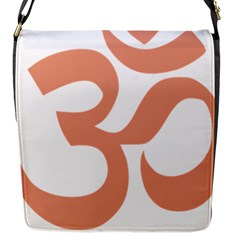 Hindu Om Symbol (salmon) Flap Messenger Bag (s) by abbeyz71