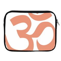 Hindu Om Symbol (salmon) Apple Ipad 2/3/4 Zipper Cases by abbeyz71