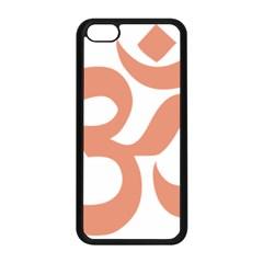 Hindu Om Symbol (salmon) Apple Iphone 5c Seamless Case (black) by abbeyz71