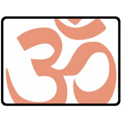 Hindu Om Symbol (salmon) Double Sided Fleece Blanket (large)  by abbeyz71