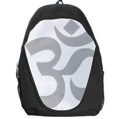 Hindu Om Symbol (gray) Backpack Bag by abbeyz71