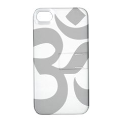 Hindu Om Symbol (gray) Apple Iphone 4/4s Hardshell Case With Stand by abbeyz71