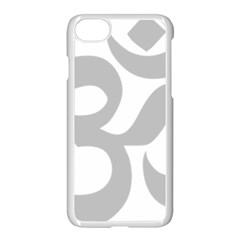 Hindu Om Symbol (gray) Apple Iphone 7 Seamless Case (white) by abbeyz71