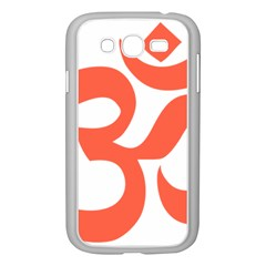 Hindu Om Symbol (peach) Samsung Galaxy Grand Duos I9082 Case (white) by abbeyz71