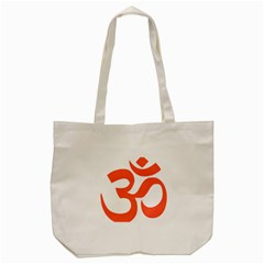 Hindu Om Symbol (peach) Tote Bag (cream) by abbeyz71