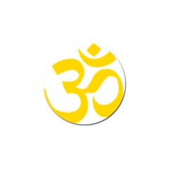 Hindu Om Symbol (yellow) Golf Ball Marker (4 Pack) by abbeyz71