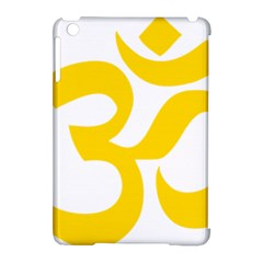Hindu Om Symbol (yellow) Apple Ipad Mini Hardshell Case (compatible With Smart Cover) by abbeyz71