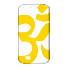 Hindu Om Symbol (yellow) Samsung Galaxy S4 Classic Hardshell Case (pc+silicone) by abbeyz71