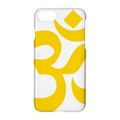 Hindu Om Symbol (yellow) Apple Iphone 7 Hardshell Case by abbeyz71