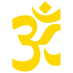 Hindu Om Symbol (yellow) 5 5  X 8 5  Notebooks by abbeyz71