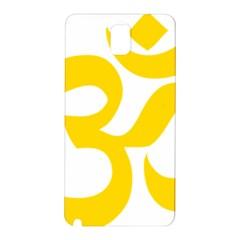 Hindu Om Symbol (yellow) Samsung Galaxy Note 3 N9005 Hardshell Back Case by abbeyz71