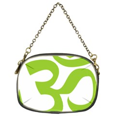 Hindu Om Symbol (lime Green) Chain Purses (two Sides)  by abbeyz71