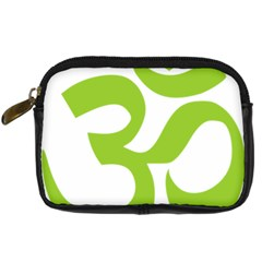 Hindu Om Symbol (lime Green) Digital Camera Cases by abbeyz71