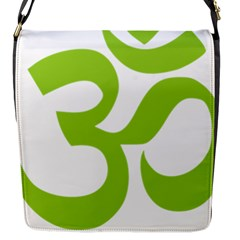 Hindu Om Symbol (lime Green) Flap Messenger Bag (s) by abbeyz71