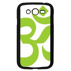 Hindu Om Symbol (lime Green) Samsung Galaxy Grand Duos I9082 Case (black) by abbeyz71
