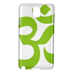 Hindu Om Symbol (lime Green) Samsung Galaxy Note 3 N9005 Hardshell Case by abbeyz71