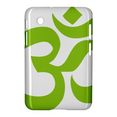 Hindu Om Symbol (lime Green) Samsung Galaxy Tab 2 (7 ) P3100 Hardshell Case  by abbeyz71