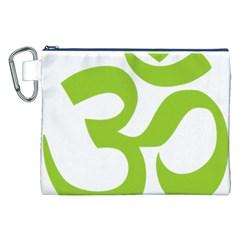 Hindu Om Symbol (lime Green) Canvas Cosmetic Bag (xxl) by abbeyz71