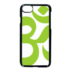 Hindu Om Symbol (lime Green) Apple Iphone 7 Seamless Case (black) by abbeyz71