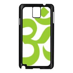 Hindu Om Symbol (lime Green) Samsung Galaxy Note 3 N9005 Case (black) by abbeyz71