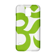Hindu Om Symbol (lime Green) Samsung Galaxy S5 Hardshell Case  by abbeyz71