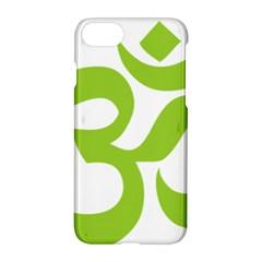 Hindu Om Symbol (lime Green) Apple Iphone 7 Hardshell Case by abbeyz71