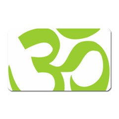 Hindu Om Symbol (lime Green) Magnet (rectangular) by abbeyz71