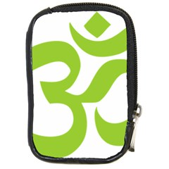 Hindu Om Symbol (lime Green) Compact Camera Cases by abbeyz71