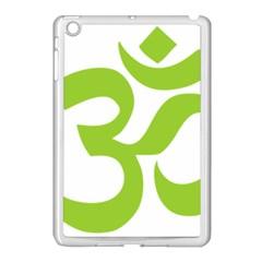 Hindu Om Symbol (lime Green) Apple Ipad Mini Case (white) by abbeyz71