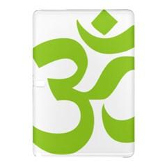 Hindu Om Symbol (lime Green) Samsung Galaxy Tab Pro 10 1 Hardshell Case by abbeyz71