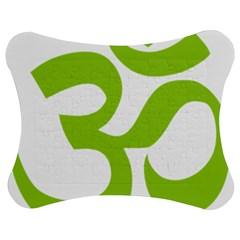 Hindu Om Symbol (lime Green) Jigsaw Puzzle Photo Stand (bow) by abbeyz71