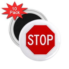 Stop Sign 2 25  Magnets (10 Pack)  by Valentinaart