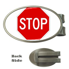 Stop Sign Money Clips (oval)  by Valentinaart