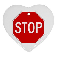 Stop Sign Heart Ornament (two Sides)