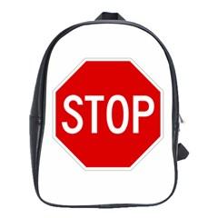 Stop Sign School Bags(large)  by Valentinaart